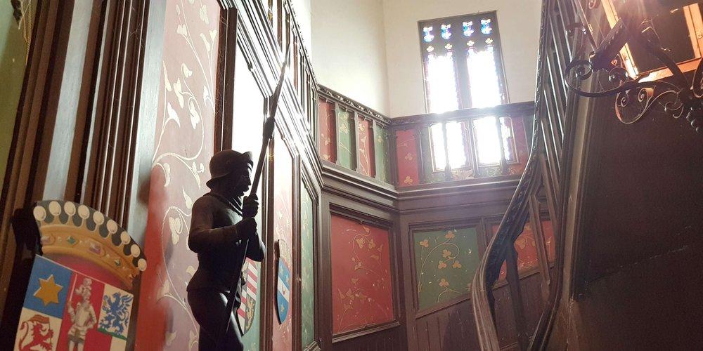 chambre d'hôtes au châteauEscalier de Salvert