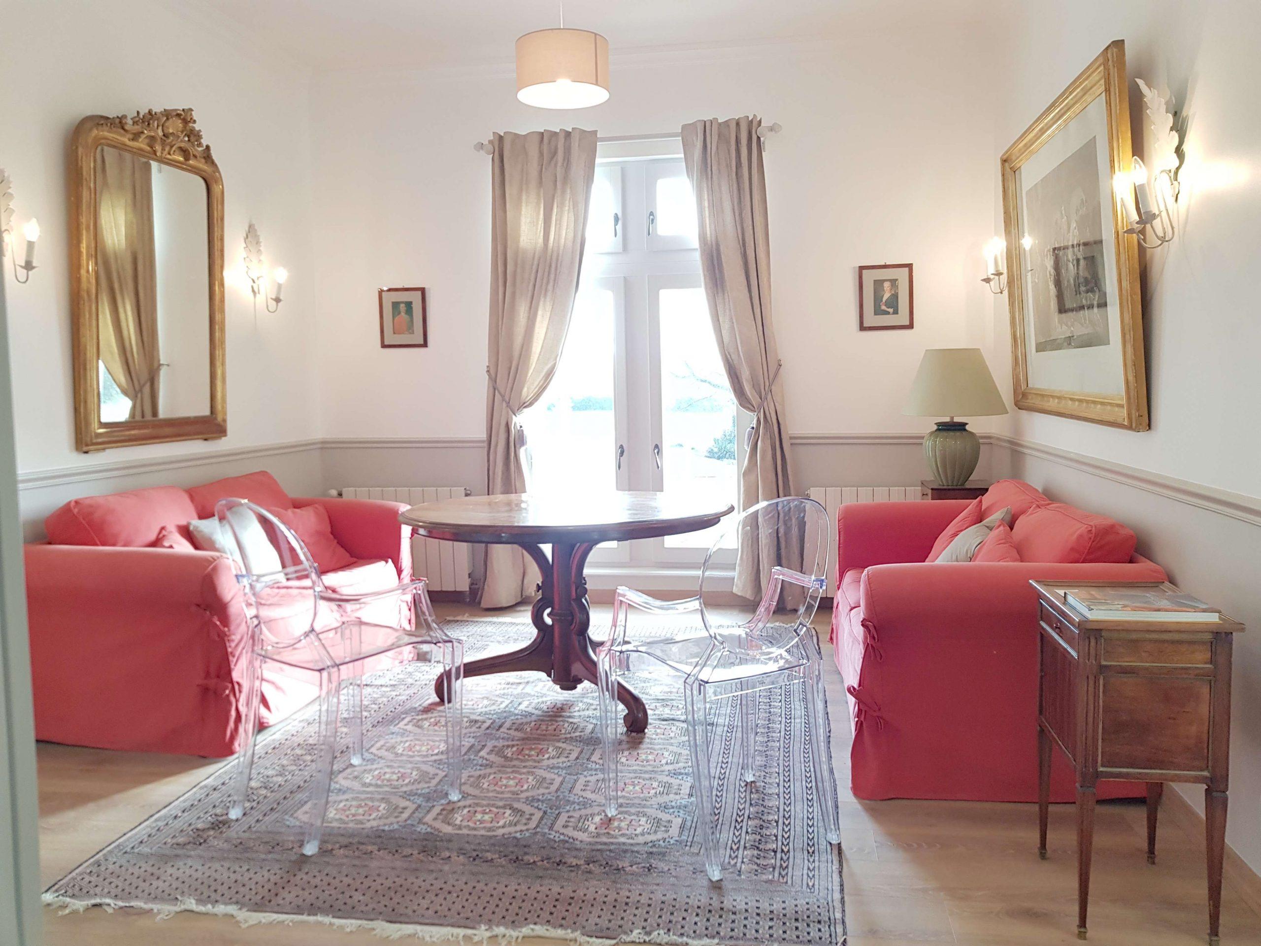 Salon de l'appartement au château de Salvert