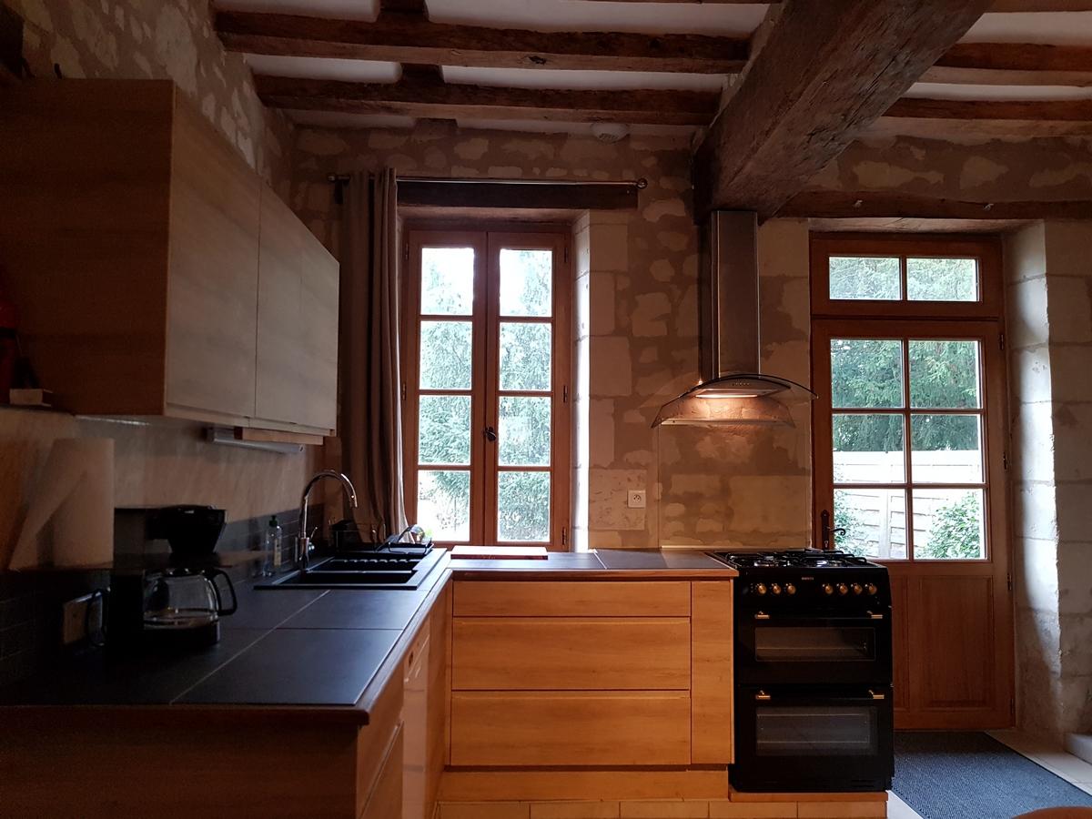 cuisine cottage gite la boulangerie val de loire