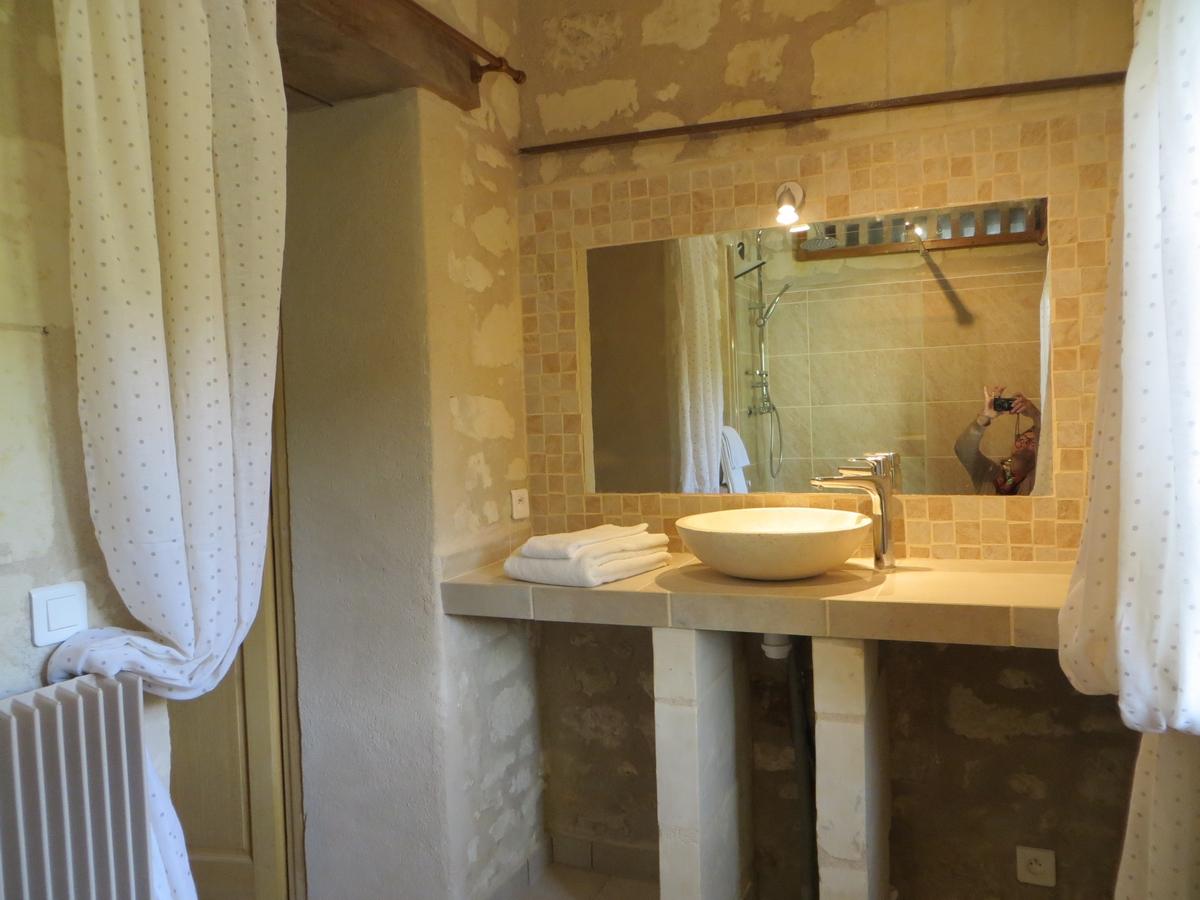 Salle de bain meuble vasque gite cottage la boulangerie
