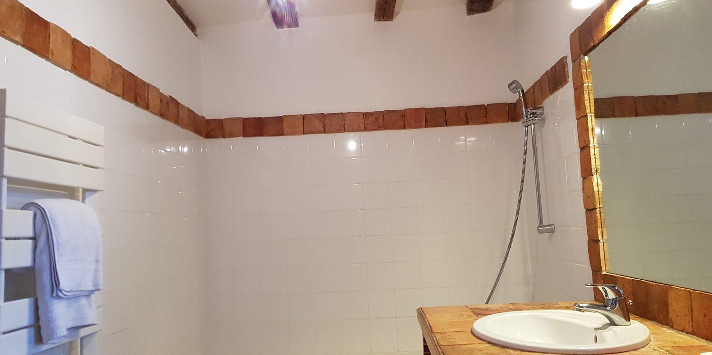 Salle de bain rez de chausée cottage gite la brosse val de loire