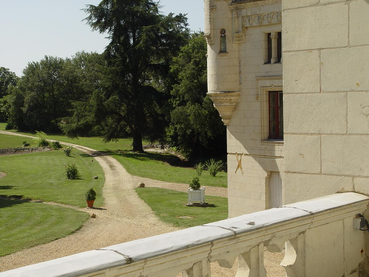 Vue de la Chambre d'hôtes au château